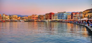 The old port of Chania.